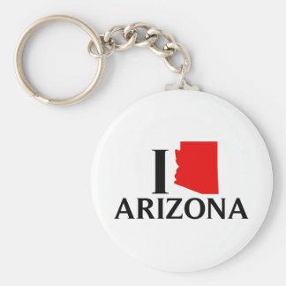 I Love Arizona - I Love AZ Basic Round Button Keychain