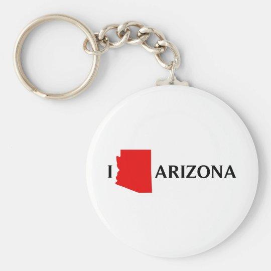 I Love Arizona - I Love AZ Keychain