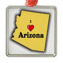 I Love Arizona Metal Ornament