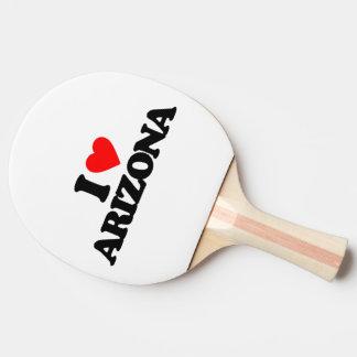 I LOVE ARIZONA PING PONG PADDLE