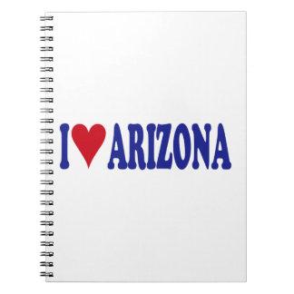 I Love Arizona Spiral Notebook