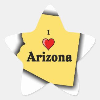 I Love Arizona Star Sticker