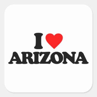 I LOVE ARIZONA SQUARE STICKER