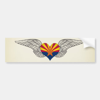I Love Arizona -wings Bumper Sticker