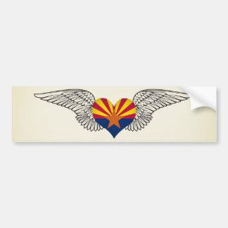 I Love Arizona -wings Car Bumper Sticker