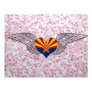 I Love Arizona -wings Postcard