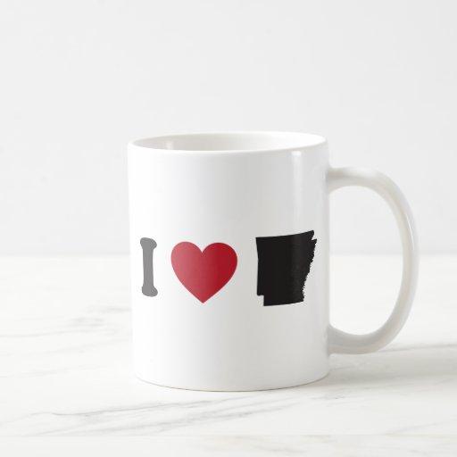 I Love Arkansas Coffee Mugs