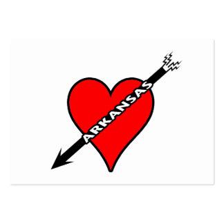 I Love Arkansas Heart Business Card Template