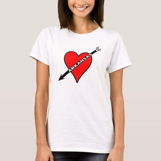 I Love Arkansas Heart T-Shirt