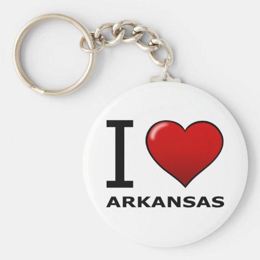 I LOVE ARKANSAS KEY CHAINS