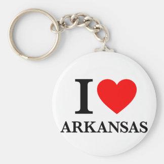 I Love Arkansas Basic Round Button Keychain
