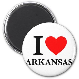 I Love Arkansas 2 Inch Round Magnet