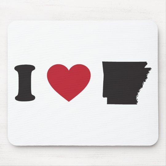 I Love Arkansas Mouse Pad