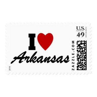 I Love Arkansas Postage Stamps