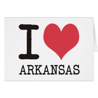 I Love Arkansas Products & Designs! Card