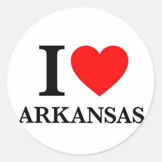 I Love Arkansas Classic Round Sticker