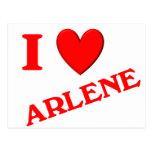 I Love Arlene Postcard
