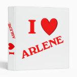 I Love Arlene Vinyl Binder