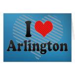 I Love Arlington Greeting Card