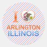I Love Arlington, IL Round Stickers