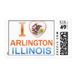 I Love Arlington, IL Stamp