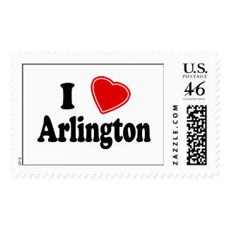 I Love Arlington Postage Stamps