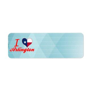 I Love Arlington, Texas Return Address Label