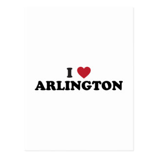 I Love Arlington Texas Postcard
