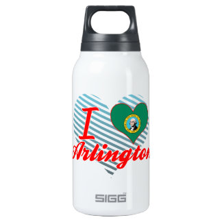 I Love Arlington, Washington 10 Oz Insulated SIGG Thermos Water Bottle