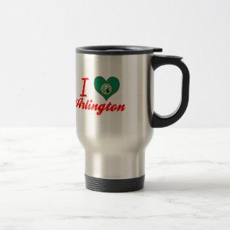 I Love Arlington, Washington 15 Oz Stainless Steel Travel Mug