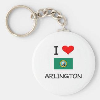 I Love Arlington Washington Basic Round Button Keychain