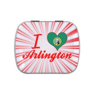 I Love Arlington, Washington Jelly Belly Candy Tin