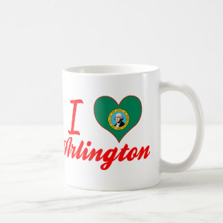I Love Arlington, Washington Classic White Coffee Mug