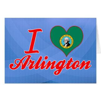I Love Arlington, Washington Greeting Card