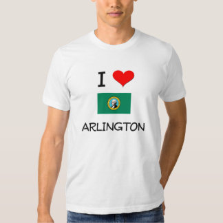 I Love Arlington Washington Tshirts