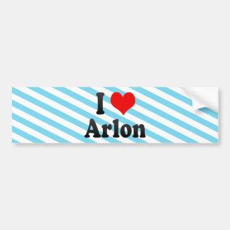 I Love Arlon, Belgium. Ik Hou Van Arlon, Belgium Car Bumper Sticker