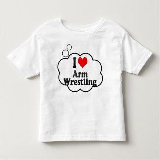 I love Arm Wrestling Toddler T-shirt