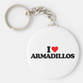 I LOVE ARMADILLOS KEYCHAIN