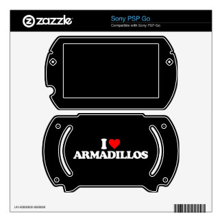 I LOVE ARMADILLOS DECAL FOR PSP GO