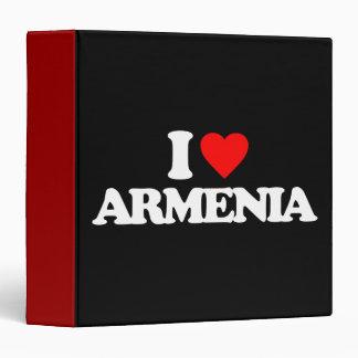I LOVE ARMENIA 3 RING BINDER