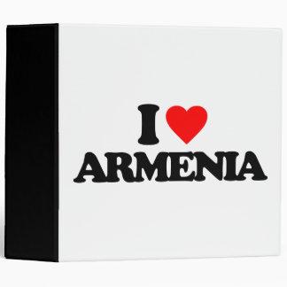 I LOVE ARMENIA VINYL BINDER