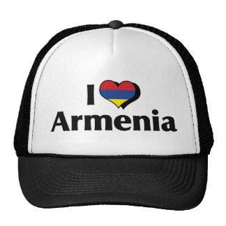 I Love Armenia Flag Trucker Hats