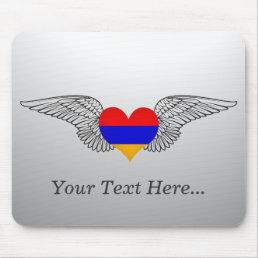 I Love Armenia -wings Mouse Pad
