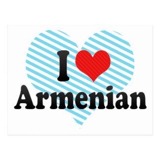 I Love Armenian Postcard