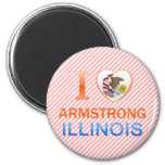 I Love Armstrong, IL Fridge Magnet