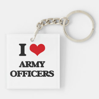 I love Army Officers Acrylic Key Chains