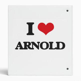 I Love Arnold Vinyl Binders
