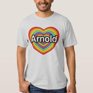 I love Arnold, rainbow heart Shirt