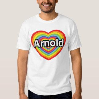 I love Arnold, rainbow heart T-shirt