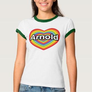 I love Arnold, rainbow heart T Shirt